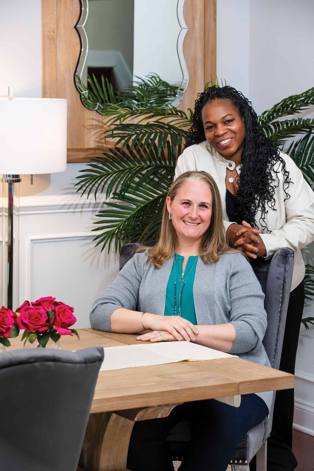 Portrait of Lauren and Wendy Nolan-Sellers for Architectural Digest Magazine