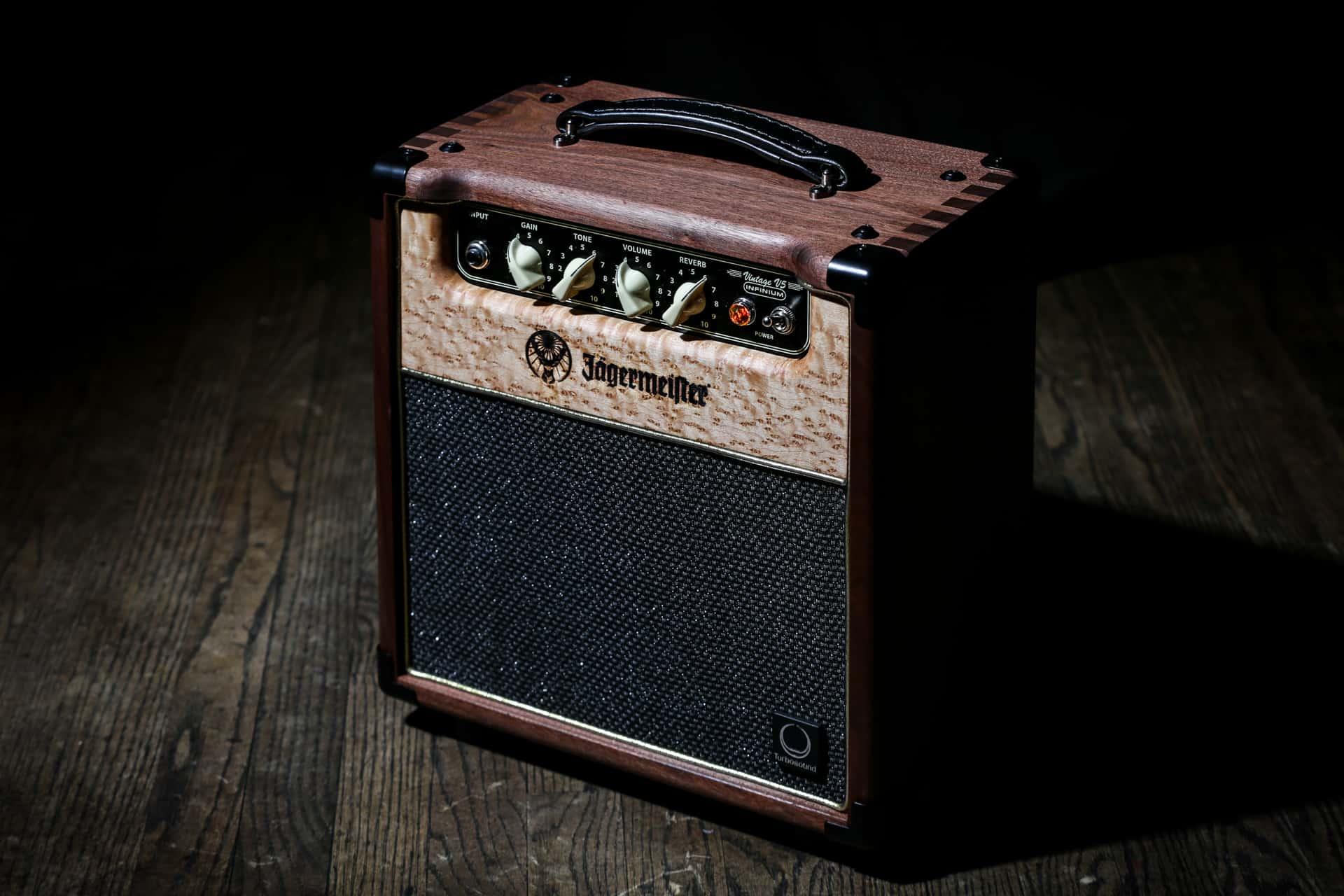 Photograph of Custom Jagermeister Guitar Equipment